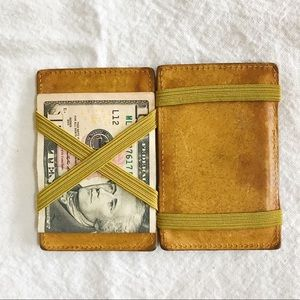 J. Crew Magic Wallet in Blue and Yellow Leather